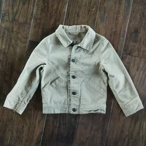 Gap khaki button up jacket w/pockets